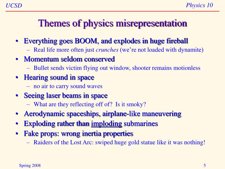 Themes of physics misrepresentation