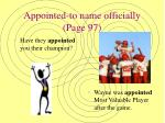 appointed to name officially page 97