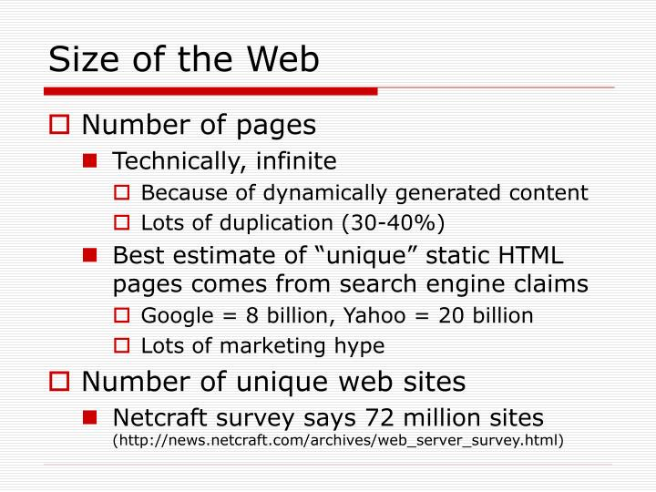 Size of the Web