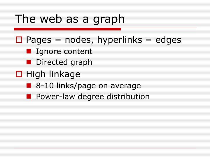 The web as a graph