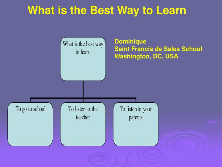 What is the Best Way to Learn