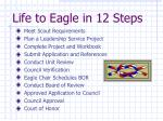 life to eagle in 12 steps