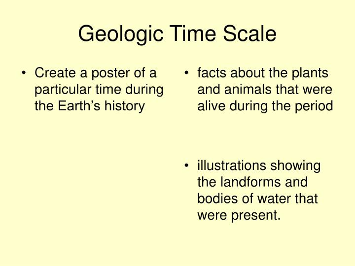 Create a poster of a particular time during the Earth's history