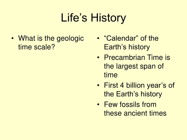 What is the geologic time scale?