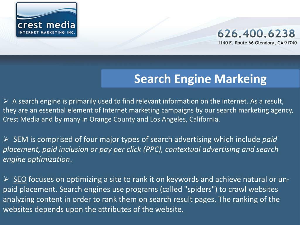 Search Engine Markeing