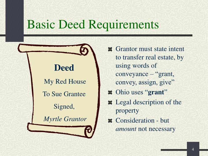 Basic Deed Requirements
