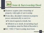 joint survivorship deed