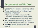preparation of an ohio deed1