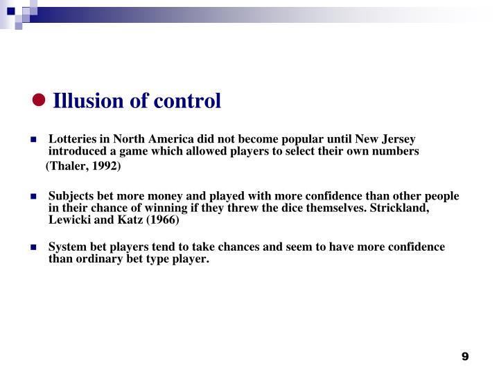 Illusion of control