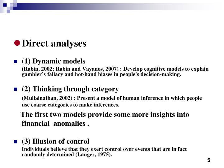 Direct analyses