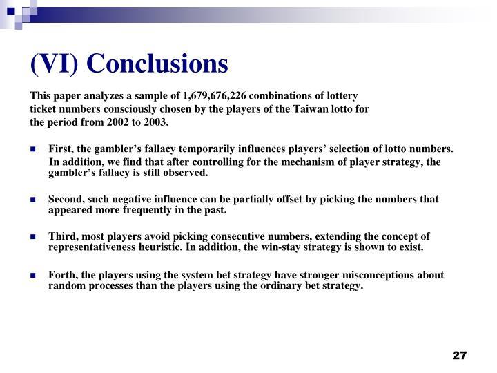 (VI) Conclusions
