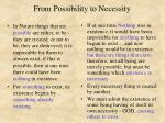 from possibility to necessity