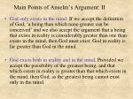 main points of anselm s argument ii
