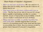 main points of anselm s argument