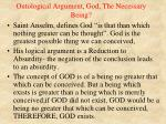 ontological argument god the necessary being