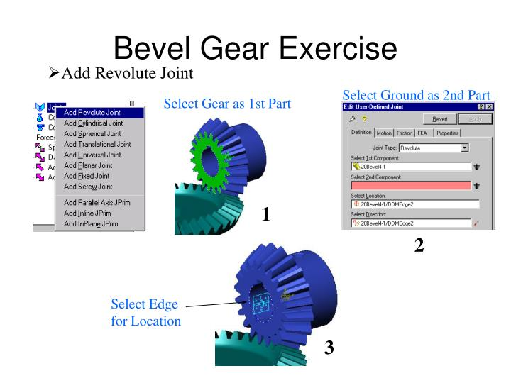 Bevel Gear Exercise