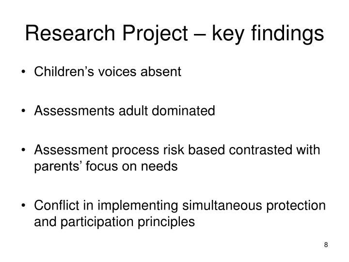 Research Project – key findings