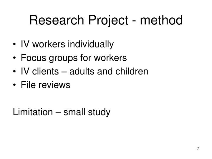 Research Project - method