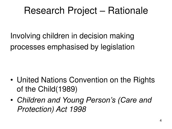 Research Project – Rationale