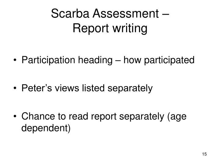 Scarba Assessment –