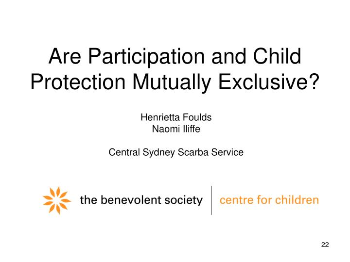Are Participation and Child Protection Mutually Exclusive?
