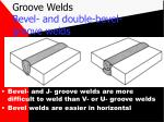 groove welds bevel and double bevel groove welds