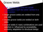 groove welds