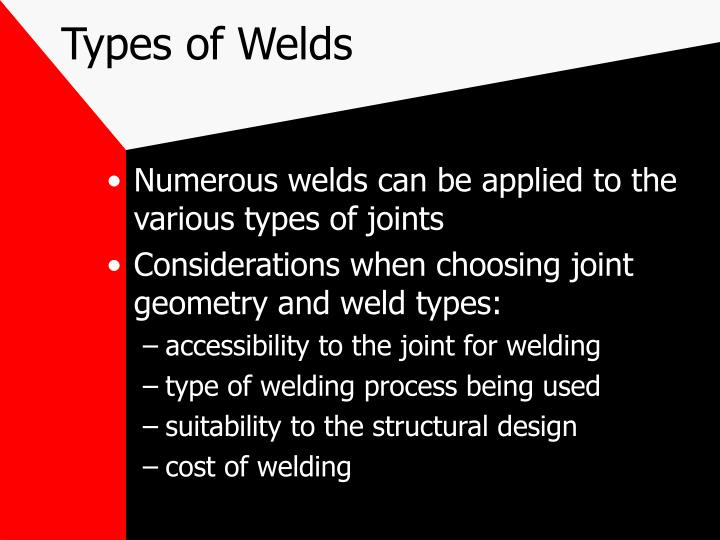 Types of welds