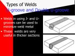 types of welds u groove and double u groove