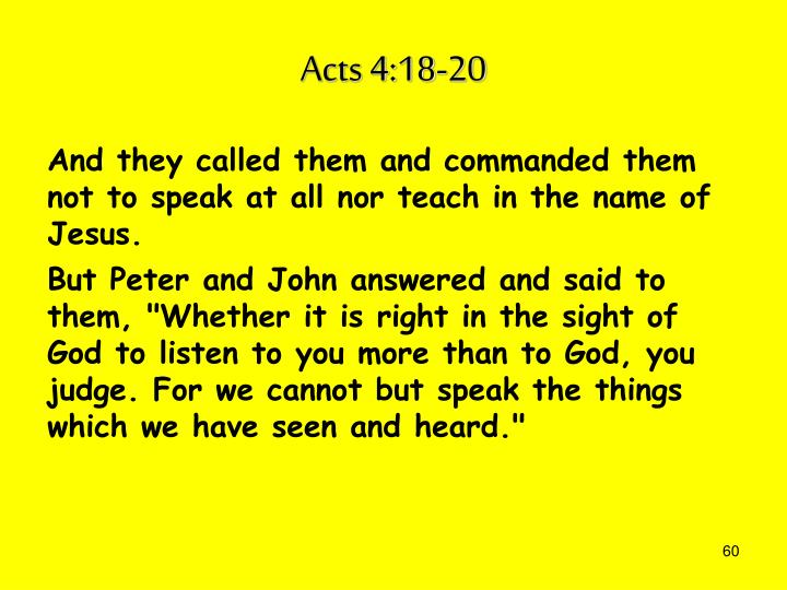 Acts 4:18-20