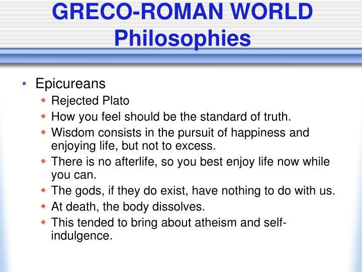 GRECO-ROMAN WORLD