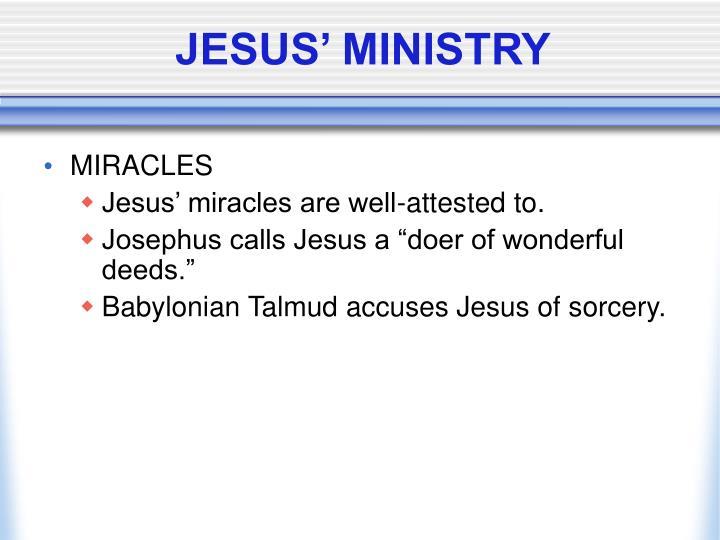 JESUS' MINISTRY