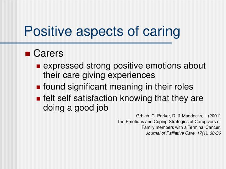Positive aspects of caring