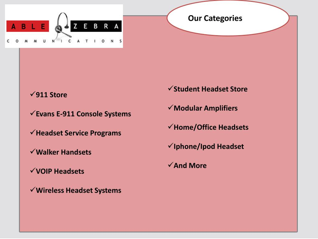 Our Categories