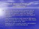 is it bereavement or depression