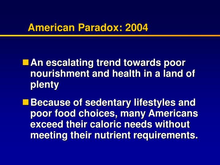 American Paradox: 2004