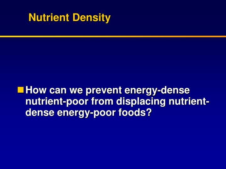 Nutrient Density