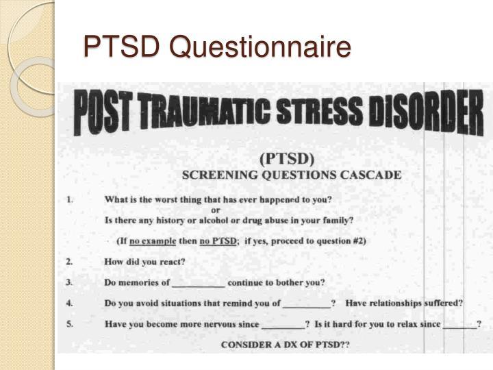 PTSD Questionnaire
