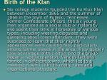 birth of the klan
