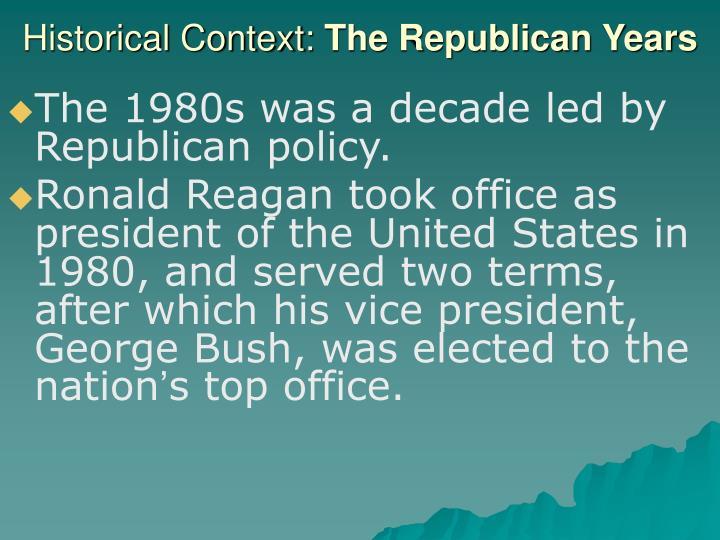 Historical Context: