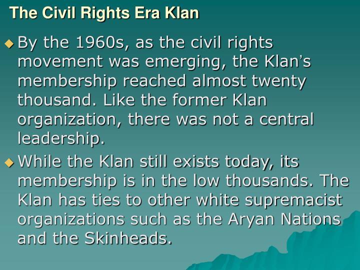 The Civil Rights Era Klan