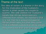 theme of the text