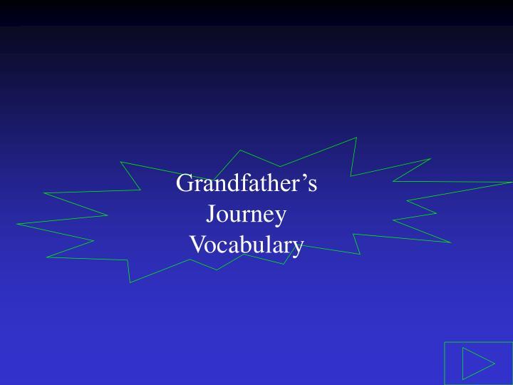 Grandfather's Journey Vocabulary