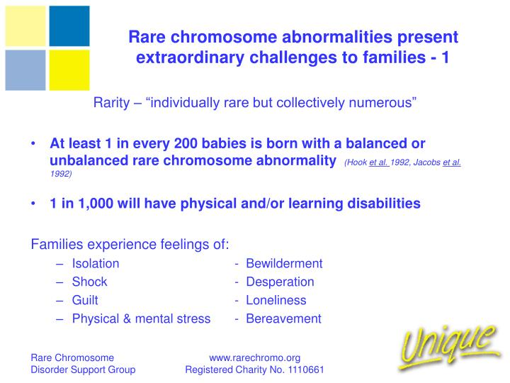 Rare chromosome abnormalities present extraordinary challenges to families - 1