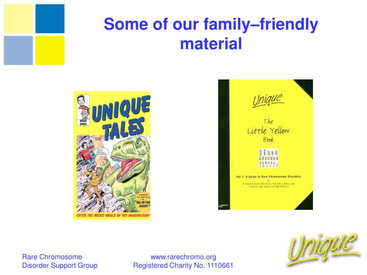 Some of our family–friendly material