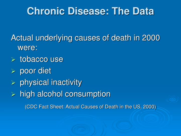 Chronic Disease: The Data