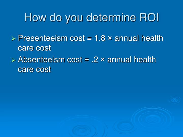 How do you determine ROI