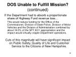dos unable to fulfill mission continued1