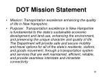 dot mission statement