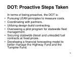 dot proactive steps taken